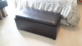 Leather trunk with flip top tray in Chicago, Illinois