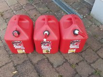 gas cans in Spangdahlem, Germany