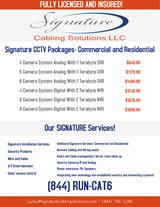 CCTV Specials at Signature Cabling Solutions, LLC in The Woodlands, Texas