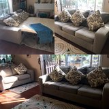 Sofa Bed & Loveseat Gray Couch in Fairfield, California