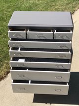 Two toned gray dresser set in Chicago, Illinois