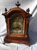Superb and Massive Walnut Three Train Bracket Clock in Vacaville, California