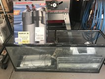 55 Gallon Fish Tank, Pump & Misc. Equipment in Yucca Valley, California