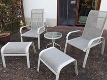 Relaxing lawn chairs & table in Ramstein, Germany