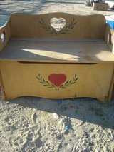 Wood toy / storage chest in 29 Palms, California