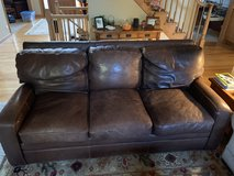 Thomas Bain Italian Leather Couch in Glendale Heights, Illinois