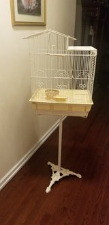 Metal Bird Cage With Cast Iron French Stand in Westmont, Illinois