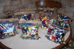 Lego's 2 Pound + Bags.Bricks and Pieces No figures in Joliet, Illinois