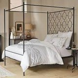 West Elm metal canopy full-sized bed in Oswego, Illinois