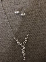 Pearl and diamond Necklace and earrings set in Savannah, Georgia
