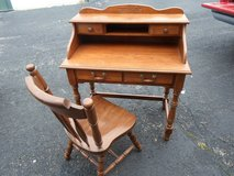 Wooden Desk and Chair in Chicago, Illinois