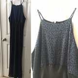 Dark blue & black formal gown in Fort Hood, Texas