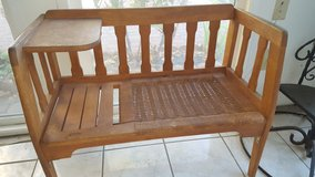 Vintage bench seat in Travis AFB, California