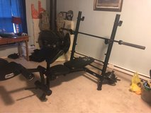 Marcy Pro Weight bench and weights in Clarksville, Tennessee