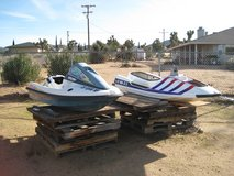 PWC HULL WITH PUMP AND OTHER PARTS YOU COULD SELL, TOW BEHIND ICE CHEST in Yucca Valley, California