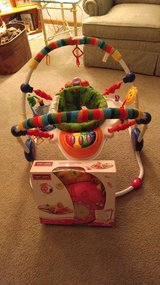 Baby Einstein bouncer,   ladybug pillow and mat in Tinley Park, Illinois