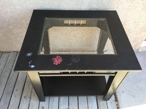 Sturdy real wood end table in 29 Palms, California
