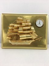Brass Ship With Small Clock - Brand New in Los Angeles, California