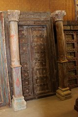 Antique Distressed Wood Columns Architectural Salvage in 29 Palms, California