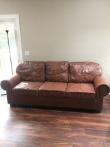 100% Top Grain Leather Couch in Oswego, Illinois