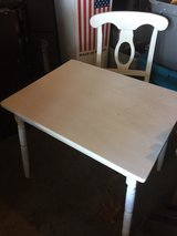 solid wood children's desk and chair in Fort Campbell, Kentucky