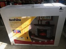 Brand New Duraflames  Wall Mantel Fireplace With 3 D Electric Infrared Quartz Heater in Camp Pendleton, California