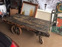 Antique Railroad Luggage Cart in Westmont, Illinois