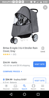 Rain cover for stroller in Oswego, Illinois