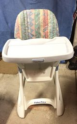Fisher Price High Chair - Adjusts to 6 diff. Levels in Naperville, Illinois