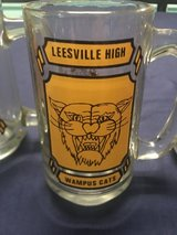 A Set of 3 Very Old Leesville High WAMPUS CATS GLASS MUGS in Leesville, Louisiana