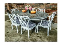 farmhouse table with six chairs in Clarksville, Tennessee