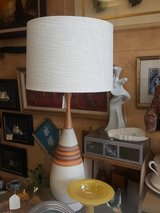 Mid century lamp teak and ceramic in Vacaville, California
