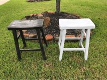 """""""Salt and Pepper"""" bar stools, rusted look in Kingwood, Texas"""
