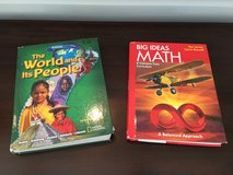 2 Grade 7 Textbooks: Math and Social Studies in Westmont, Illinois