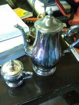 Silver Teapot and sugar bowl in 29 Palms, California