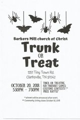 TRUNK OR TREAT in Fort Campbell, Kentucky