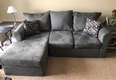 grey couch with chaise lounge in Norfolk, Virginia