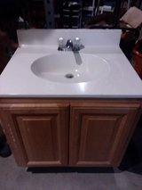 Single white vanity sink in Richmond, Virginia