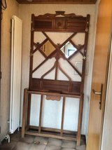 Antique Oak Hall Tree with 2 mirrors and drawer in Stuttgart, GE