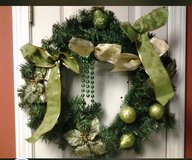 Christmas Wreath w/green apples in Eglin AFB, Florida