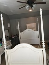 Girls full size canopy bed and night stand in Houston, Texas