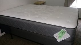 Full size mattress with box spring/frame in El Paso, Texas