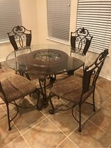 Custom upholstered table and chairs in Houston, Texas