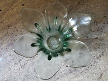 Floral shape green glass votive holder in Bolingbrook, Illinois