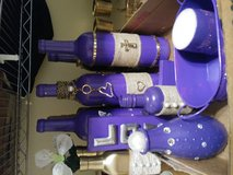 Purple decorated wine bottles in Baytown, Texas