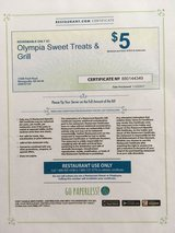 Restaurant Certificates (1) - $25 and (3) $5 - NO EXPIRATION! in Cleveland, Ohio