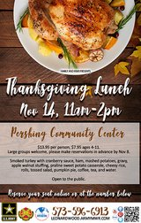 Reservations open for November 14th Thanksgiving Lunch in Fort Leonard Wood, Missouri