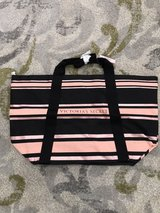 VICTORIA'S SECRET SPARKLE ROSE GOLD STRIPED TOTE BAG - NEW WITH TAGS in Bolingbrook, Illinois