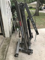 Pittsburgh 1 Ton folding shop crane and 1/2 Ton engine stand in The Woodlands, Texas