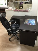 DESK  & Leather Chair Set (Available 7 Jan) in Okinawa, Japan